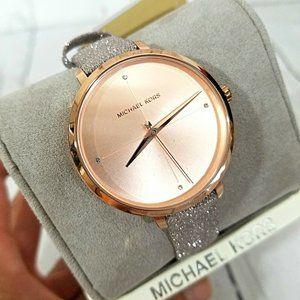 Michael Kors Women's Rose Gold Crystal 38mm Watch